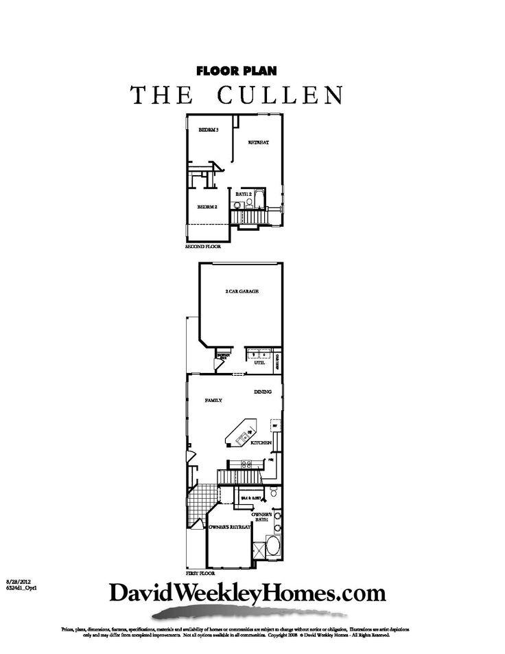 David Weekley Homes Cullen Floor Plan 1 927 Sq Ft
