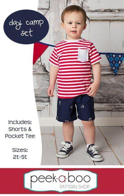 FREE toddler shorts and t-shirt pattern