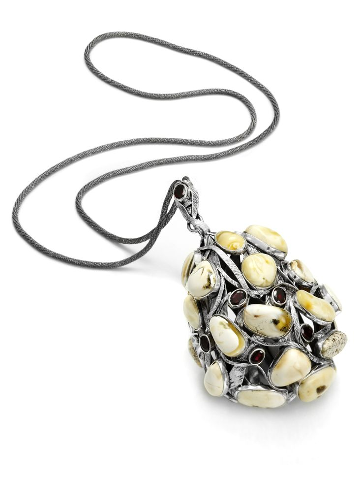 Roma Amber_Necklace_Silver_19