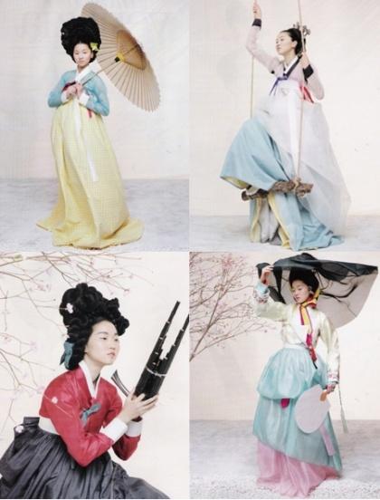 Kim Kyung Soo and Gun Ho Lee for Vogue Korea    Traditional Korean Dresses