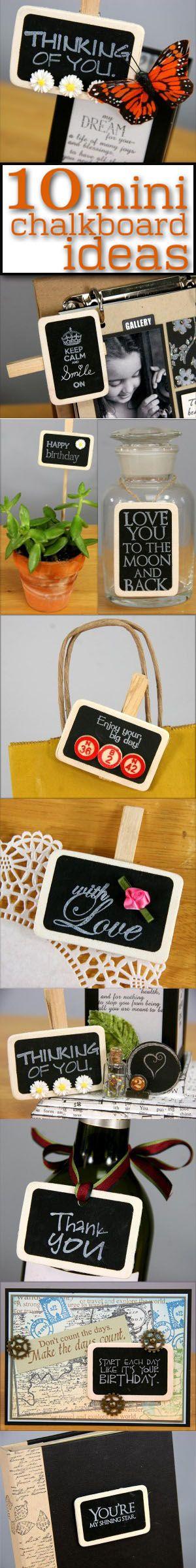 Ten inspiring ideas for our mini chalkboard clips!   Club Scrap #chalkboard