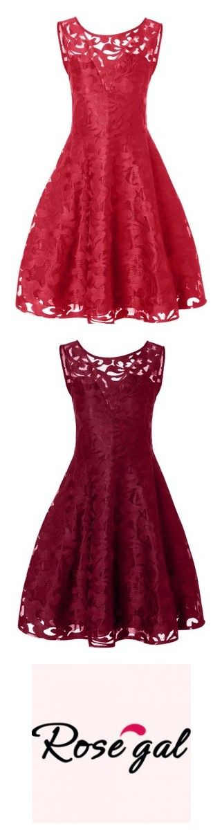 """Rosegal-Sheer Lace Plus Size Vintage Dress"" by fshionme ❤ liked on Polyvore featuring dresses, red dress, plus size red dress, red vintage dress, women's plus size dresses, vintage dresses, sheer lace dresses, plus size dresses, vintage day dress and logo"