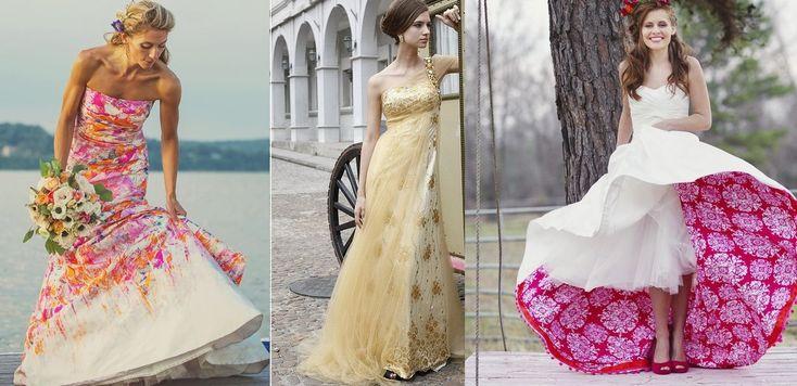 Abiti da sposa seconde nozze colorati