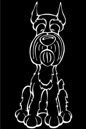 Giant Schnauzer Decal Dog