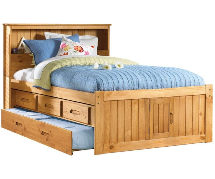 full size captains trundle bed kid design
