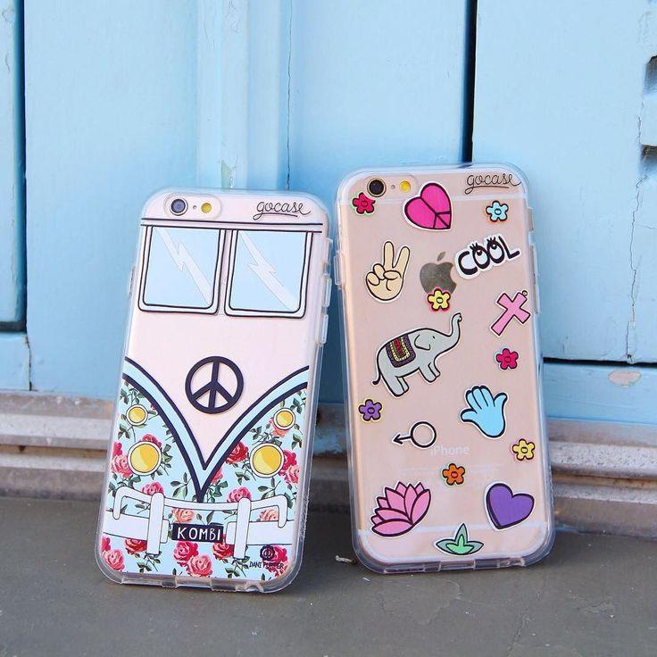 Uma pegada #hippie de vez em quando cai super bem! {cases: kombi e 'patches paz…
