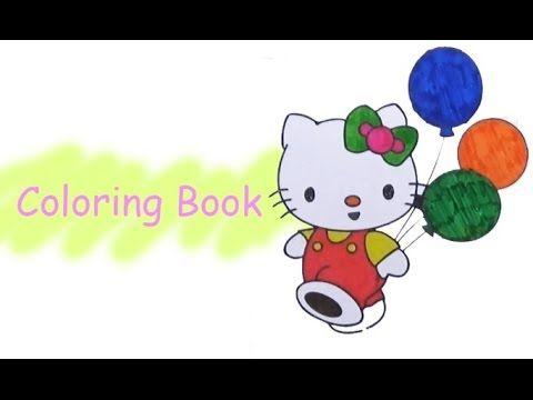 Pi n' Mo: Coloring Pages For Kids With Hello Kitty Coloring Book #Page 6...