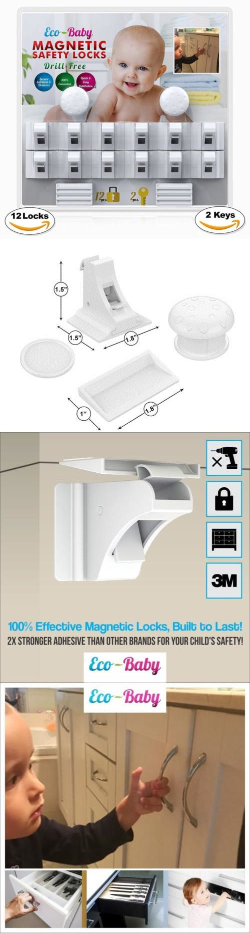 Baby Locks and Latches 117027: Baby Safety Child Proof Home Kitchen Cabinet Door Latch Lock Door Magnetic Locks -> BUY IT NOW ONLY: $36.32 on eBay!