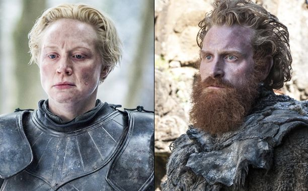"All it took was one glance last week to light up Twitter. Tormund Giantsbane crushing on Brienne of Tarth? It's the match-up we never knew we wanted, until we did. And in Sunday's ""The Door,"" the wildling's desperately unabashed interest in the warrior continued until Brienne was visibly rolling her eyes.  One fan of the storyline is Brienne actress Gwendoline Christie, who says she could barely keep a straight face during Tormund actor Kristofer Hivju's advances."