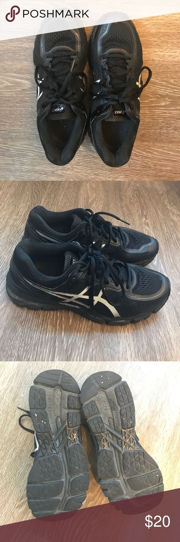 Asics Gel Kayano 22 Black 💕good condition Asics Shoes Athletic Shoes