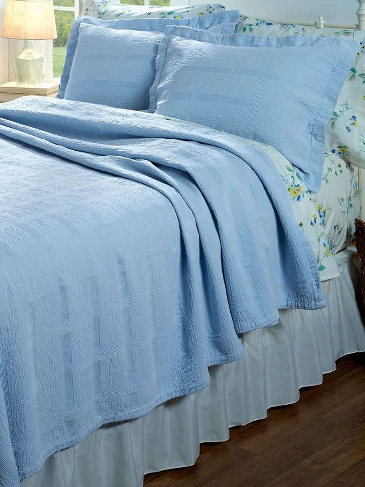 Pintuck Cotton Coverlet You Can Make Your Bed Quickly