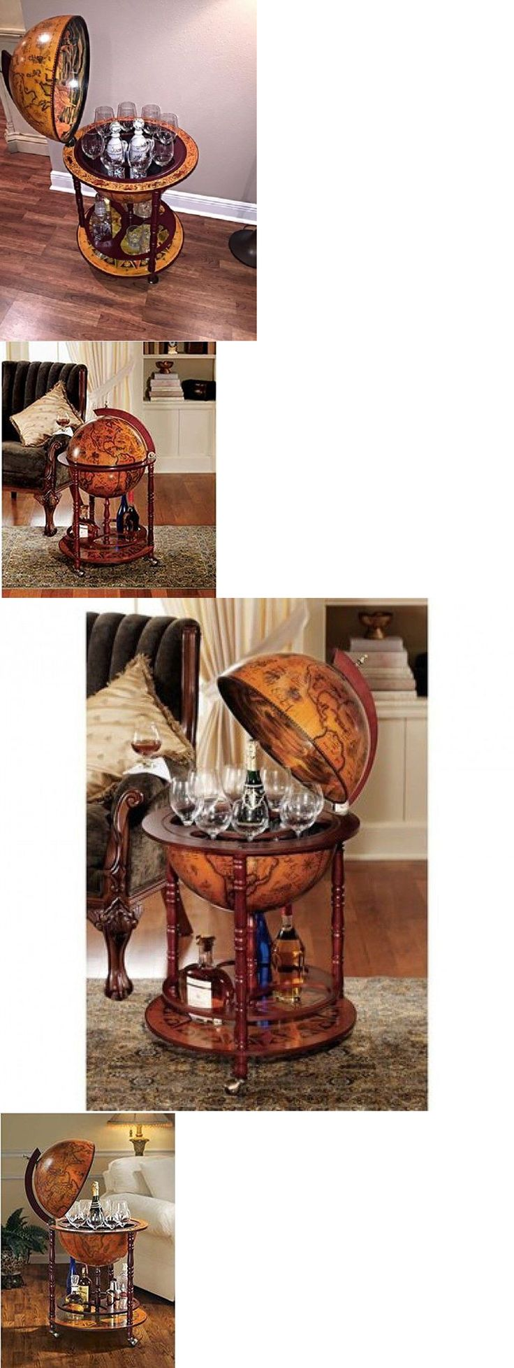 Home Pubs and Bars 115713: Wine Storage Cabinet Globe Rack Bar Furniture Whiskey Alcohol Liquor Shelf World -> BUY IT NOW ONLY: $161.47 on eBay!