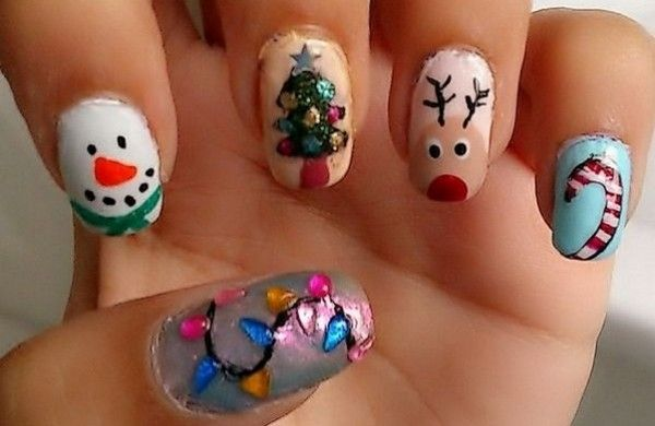 Exquisite Holiday Nail Art Design