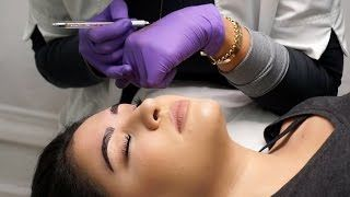 Microblading my EYEBROWS! | Semi Permanent Eyebrow Tattoo