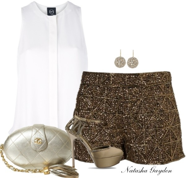 """Embellished Shorts"" by natasha-gayden on Polyvore"