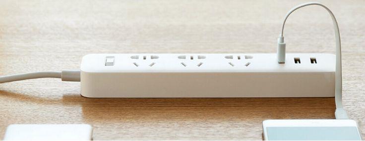Original Xiaomi 3 USB Power Strip Portable Socket For Cellphone Tablet Sale-Banggood.com