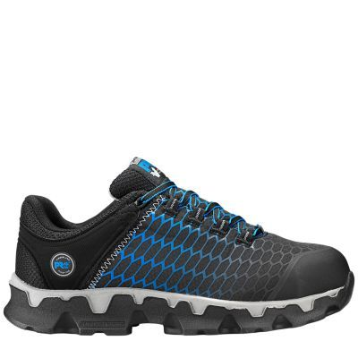 Men's Timberland PRO Powertrain Sport Alloy Toe EH Work Shoes Black/Blue Ripstop Nylon