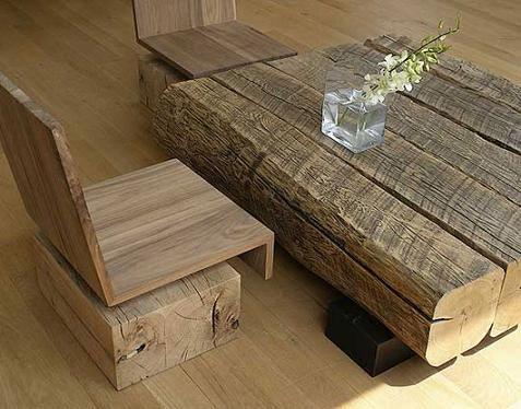 Mesa de madera para casas rústicas