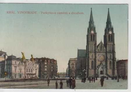 Praha 2, Vinohrady, Purkyňovo náměstí, divadlo