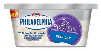 USA: Kraft Philidelphia 2x Protein Cream Cheese Spread