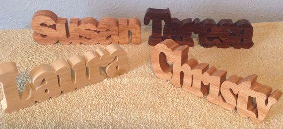 Personalized, custom cut, wooden name plate, table decor, desk decor, desk accessories, cubicle decor, wooden word art