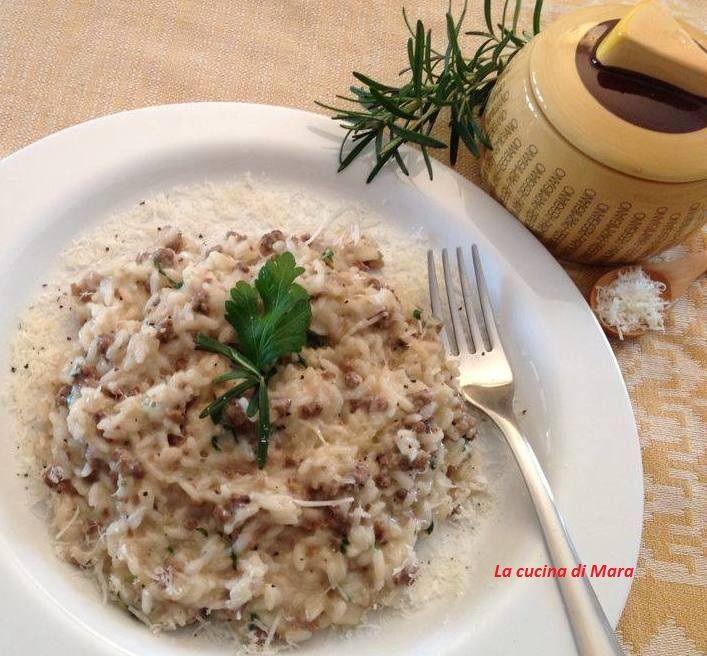 Risotto con carne macinata e parmigiano
