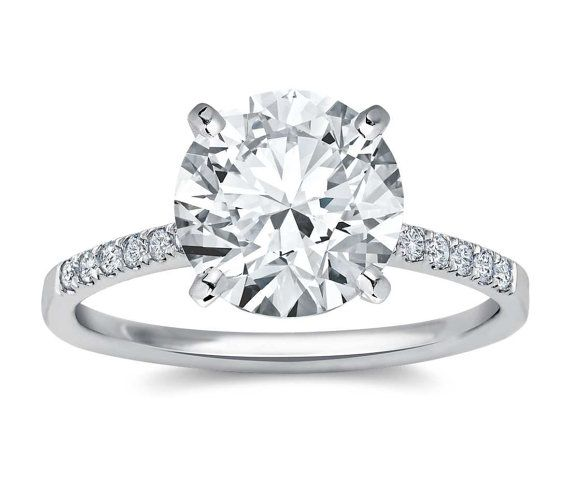 4.01ct Huge Natural Diamond J SI2 18ct White Gold by WGJewellery