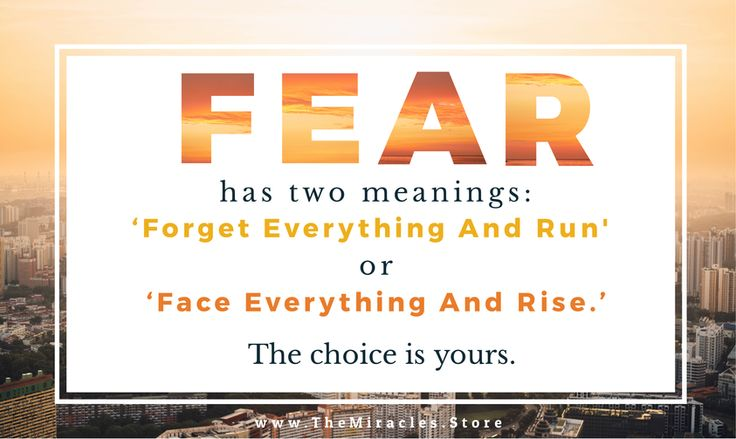 """Fear has two meanings: 'Forget Everything And Run' or 'Face Everything And Rise.' The choice is yours."" #overcomeadversity #inspirationalquotes #quoteoftheday #inspiration #fearquotes #fear"