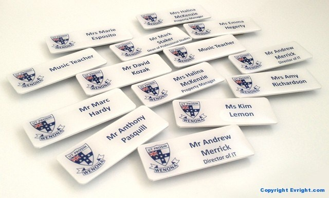 High Quality Name Badges by Evright.com