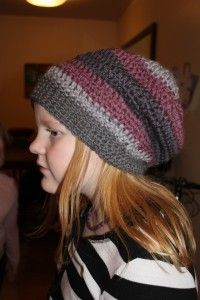 Slouchy hipster hat crochet - free pattern - this is so cute, I just love it when people are generous enough to share their talents at no cost to the rest of us :)