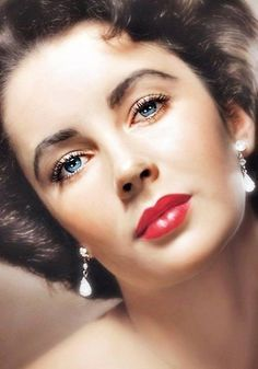 """ELIZABETH """"Liz"""" TAYLOR (1932-2011) Better known as Liz Taylor, she was a Glamorous movie actress who starred in Cleopatra and BUtterfield 8 during Hollywood's Golden Age."""