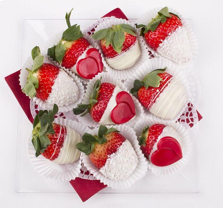 Fruit Box Strawbery White heart