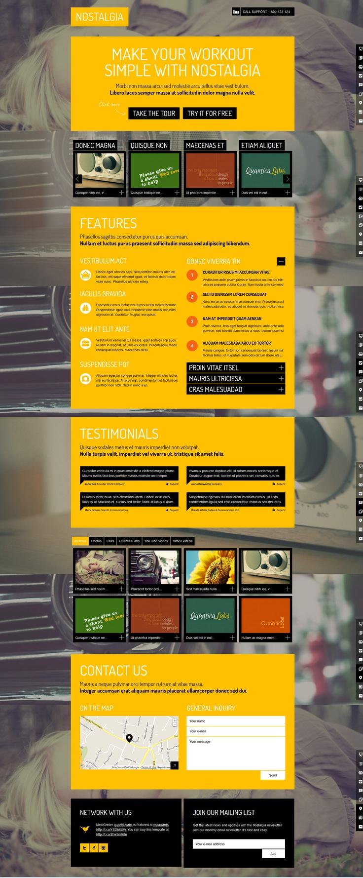Nostalgia  |  Responsive, Slideshow Background, One-Page, Wordpress Template  |  themeforest  |  http://quanticalabs.com/wp_themes/nostalgialanding/#