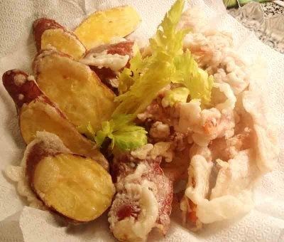 Fried squid dish (ojingeo twigim)