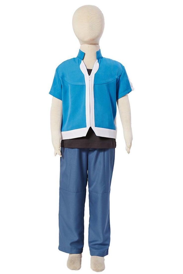 Pokemon XY Ash Ketchum Satoshi Temporada 5 Cosplay Disfraz Versión para Niños_1 #cosplaysky