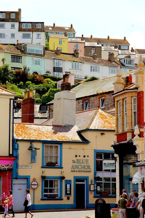 Brixham, historic fishing town on the coast of Devon, England. (Photo by debsdustbunny)