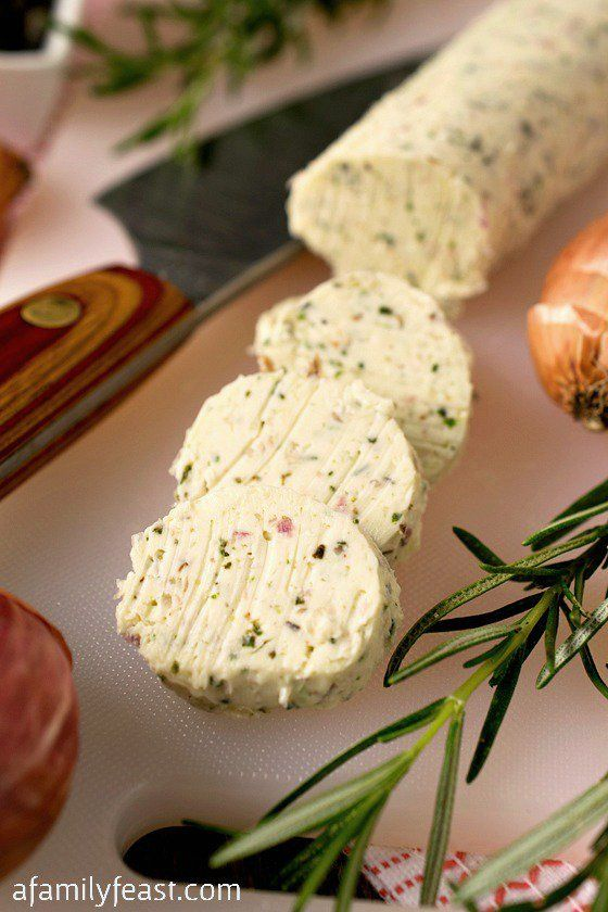 Rosemary Compound Butter - A simple way to add new delicious flavor to any dish! - A Family Feast