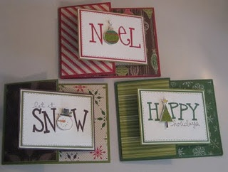 Christmas Cards - so cute how she replaced a letter with an image