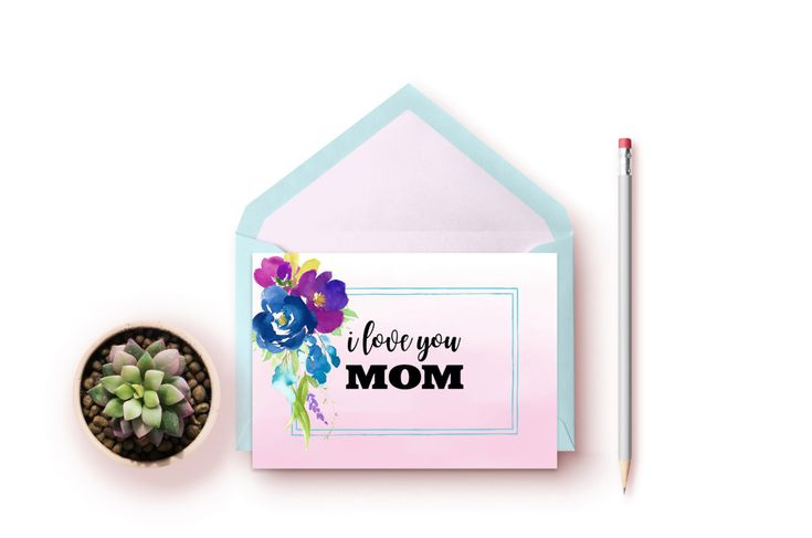 I Love You Mom Card, Mom Birthday Card Printable, Mom Birthday Card, Birthday Card for Mom, Personalized Birthday Card, Instant Download by SeptemberCreationsAE on Etsy