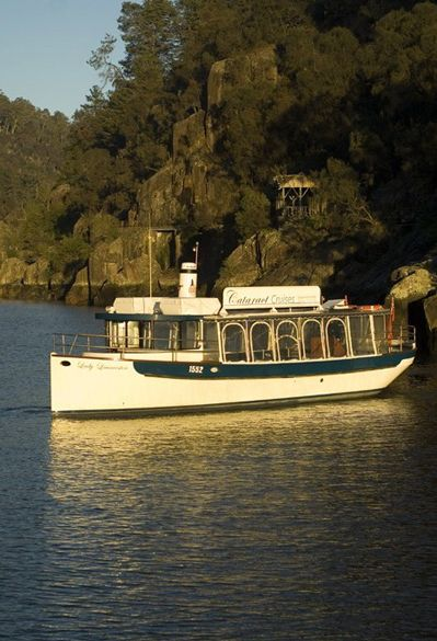 Cruise the magical Cataract Gorge, Old Launceston Seaport and Riverfront Precinct in silence onboard Lady Launceston with her unique electric drive and 1890's charm