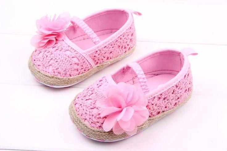 J.g чен девочка обувь малыша обувь для новорожденной девочки цветочный пряжа принцесса мягкий анти - анти-показывать нижний 11 - 13