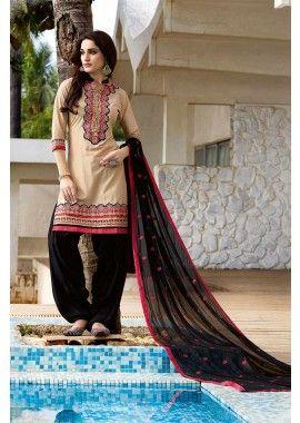beige, couleur noire coton patiala salwar kameez, - 81,00 €, #Robepakistanaise #Salwarkameezmariage #Salwarkameezfemme #Robepakistanaisepascher #Shopkund