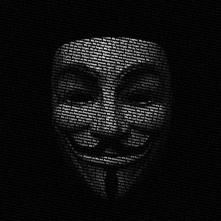 Máscara Anonymous. #RegalosPersonalizados #RegalosConFoto #Personalizados #CamisetasEstampaciónCompleta #CamisetasPersonalizadas