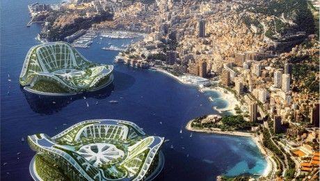 Zukunftsvision: Monaco in 20 Jahren: Schwimmende Hotelinseln vor der Küste