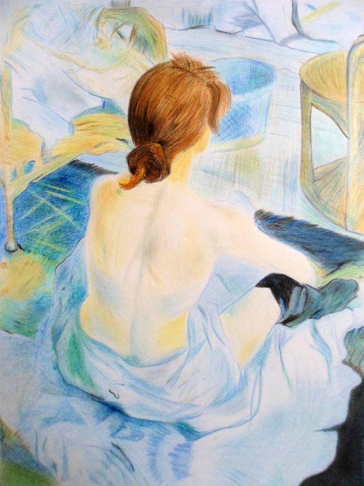 Desenho_reprodução da obra de Toulouse Lautrec