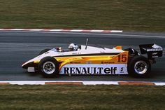 Alain Prost Renault RE20 F1 Brands Hatch British GP 1982.