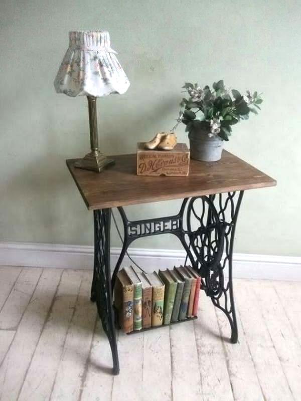 vieille machine coudre 25 ides pour la transformer en un superbe meuble - Table Machine A Coudre