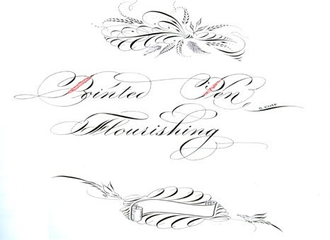 1000 Images About Calligraphy Flourishing On