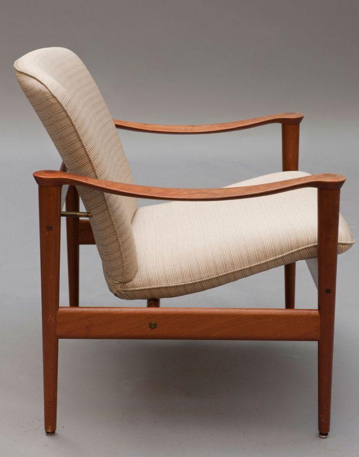 Frederik A. Kayser; #711 Teak Armchair for Vatne Lenestolfabrikk, 1960.