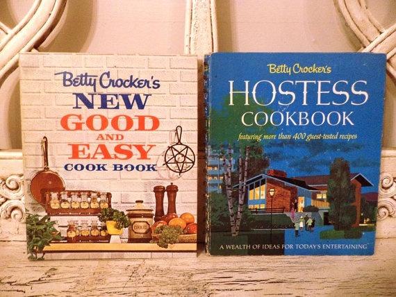 Pair of Retro Betty Crocker Cookbooks  The by Thebeezkneezvintage, $23.00
